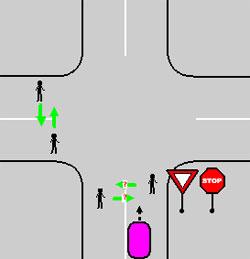остановка перед знаком уступи дорогу3